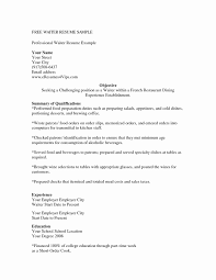 Waitress Resume Examples Extraordinary Waiter Resume Sample Beautiful Unique Waitress Resume Sample Awesome