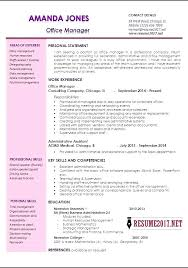 Cv Template Office Resume Template Office Office Manager Resume Sample Best Of Fice