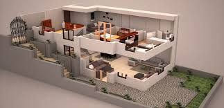 Duplex 3d plan | 3D Plans in 2018 | House plans, House, How to plan
