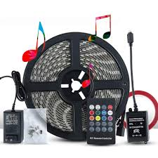 Led Lights Sync To Music Details About Led Strip Lights Sync To Music 5m 16 54ft 300led 12v Flexible Multi Color Led