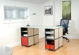 office desk design made from cube modular furniture system by yube modular furniture system