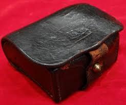 antique civil us navy artillery pouches ca 1863 us navy leather fuse pouch