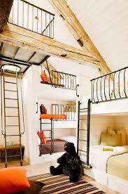 I LOVE these bunk beds! How awesome would this be for a kids room at