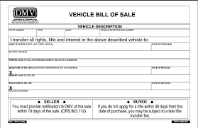 Vehicle Bill Of Sale Form Beauteous Dmv Bill Of Sale Forms Engneeuforicco