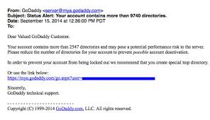 Godaddy Customers Beware Of Email Phishing Attempts