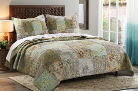 blue green brown retro vintage paisley bedding twin quilt set photo with awesome for gl dream