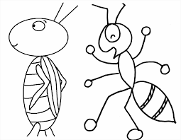 Small Picture Coloring Pages Animals Free Ant Coloring Pages Insect Coloring