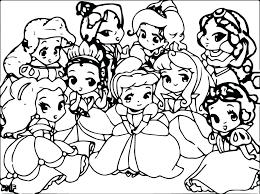 baby princess coloring pages princesses page ariel baby princess coloring pages princesses page ariel