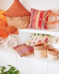 terracotta linen throw pillow