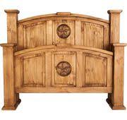 Star Mansion King Sized Rustic Bed Frame