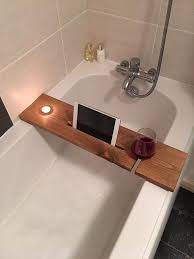 Bathtub Bud bath tray with candle tablet