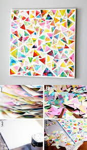 crafty paper mozaic wall decor