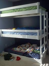 Built In Bunk Beds Saving Space And Staying Stylish With Triple Bunk Beds