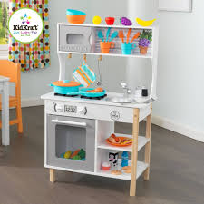 Childrens Wooden Kitchen Furniture Kidkraft All Time Play Wooden Kitchen With 48 Pieces Walmartcom