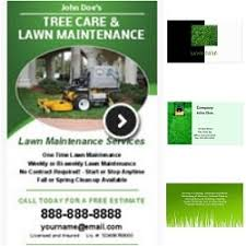 lawncare ad landscaping business cards lawn care business landscaping