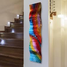 colorful metal wall art decor