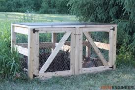 diy double compost bin plans rogue engineer 2