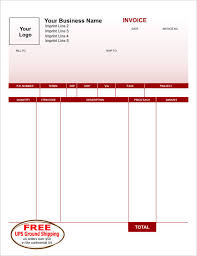 Free Invoice Form Template Classy Carbonless Invoice Forms NCR Invoices Create An Invoice Form