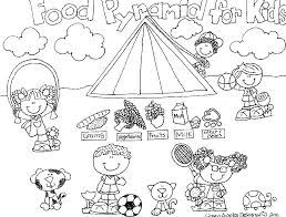 Small Picture Awesome Food Pyramid Coloring Page 25 In Coloring For Kids With