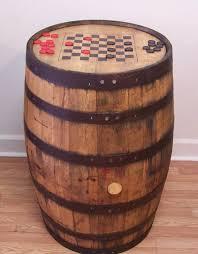 aged repurposed oak whiskey barrel table by auntmollysbarrels 24900 authentic jim beam whiskey barrel table