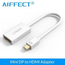 <b>AIFFECT</b> 2K 4K <b>Mini DP</b> to HDMI Adapter Cable <b>Mini DisplayPort</b> ...