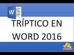Como Hacer Un Triptico En Word 2010 Y 2007 Bien Explicado