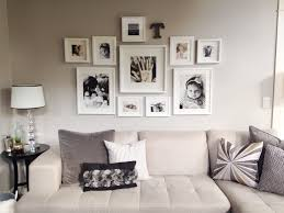 Wall Collage Living Room My Photo Wall Collage Neutral Tones All White Ikea Frames