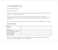 Club Membership Form Template Cricket Club Membership Form Template Application Download With