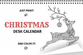 Desk Calendar Printable Christmas Coloring Desk Calendar Printable Pages