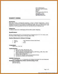 Types Of Resumes Simple Resume Templates Types Of Resumes Samples Sample Imposing Different