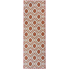 berrnour home rose collection contemporary moroccan trellis design orange 2 ft x 7 ft