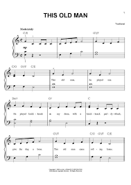 this old man piano sheet music this old man piano sheet music onlinepianist