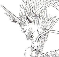 真剣に竜を描いてみました 竜神と愛妻モノクロ