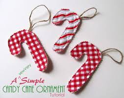 Easy Sew Candy Cane Ornament  Holiday Candy Cane OrnamentsEasy Christmas Crafts To Sew