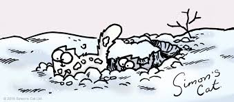 Image result for simon's cat in the snow