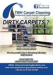 carpet cleaning flyer twh carpet cleaning ellesmere port 21 girton rd