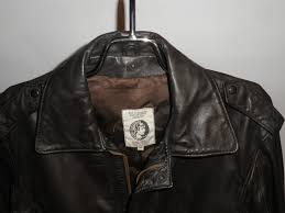 american express leather er jacket front close up view