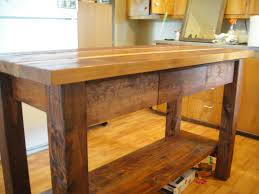 For A Kitchen Island Kitchen Island Wood Countertop The Plus And Minus Of Reclaimed