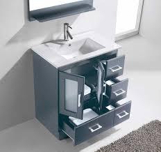 30 Bathroom Cabinet Virtu Usa Zola 30 Single Bathroom Vanity Cabinet Set In Grey