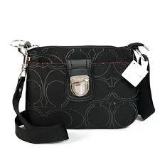 Coach Lock In Monogram Small Black Crossbody Bags CFM