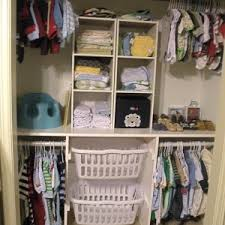 kitchen solution traditional closet: small laundry room with diy nursery closet organizer solution and small plastic clothes baskets