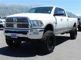 white dodge ram lifted. Fine Lifted DODGE RAM CREW CAB LARAMIE 4X4 CUMMINS DIESEL CUSTOM LIFT WHEELS TIRES  LEATHER Image 1 Intended White Dodge Ram Lifted F