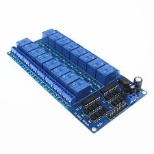 12V <b>16 Channel Relay Module</b> with Light Coupling LM2576 Power ...