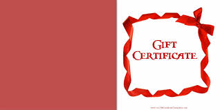 gift certificate template book of gift certificate templates free printable
