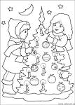 Раскраски детские на новый год