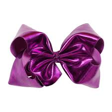details about 7 girls solid leather hair clips hair bows boutique headwear kids hairgrips