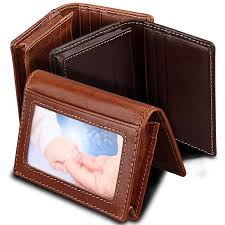 rfid card protection wallet men genuine leather business card anti magnetic id holder women vintage cardholder purse wallet bags mens business card holder
