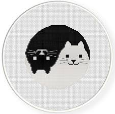 Cat Cross Stitch Patterns Stunning Yin Yang Cat Cross Stitch Pattern Daily Cross Stitch