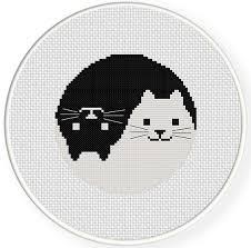 Cat Cross Stitch Patterns Stunning Yin Yang Cat Cross Stitch Pattern Daily Cross Stitch