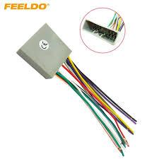 feeldo car cd player radio audio stereo wiring harness adapter plug for honda 06 08